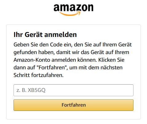 Fire TV einrichten in 5 Schritten - Amazon Code